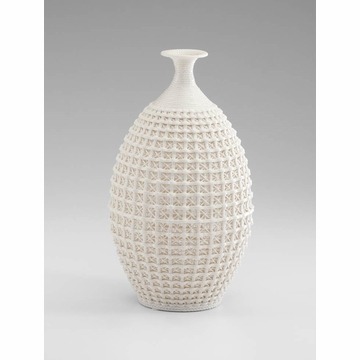 Large Diana Intricate White Ceramic Vase by Cyan Design