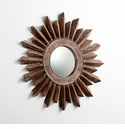 Large Excalibur Walnut Mirror by Cyan Design