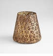 Large Filigree Antiqued Gold Container by Cyan Design