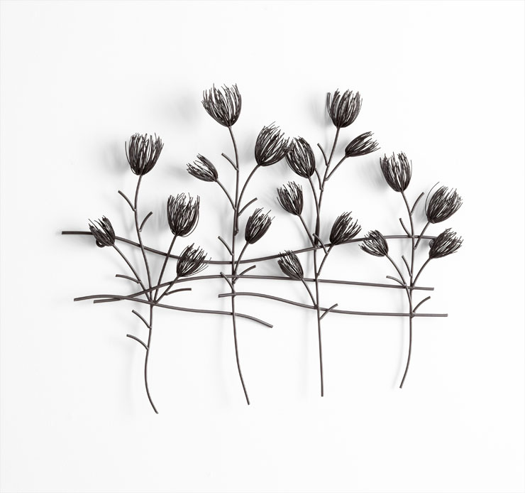 Large Flowers Iron Wire Wall Decor By Cyan Design