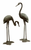 Large Garden Crane Pair Sculpture by SPI Home