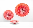 Large Glass Red & White Plate/Centerpiece by Cyan Design