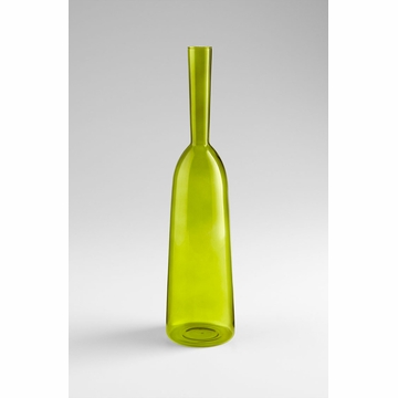 Large Green Glass Carafe Vase by Cyan Design