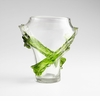 Large Green Glass Throne Vase by Cyan Design