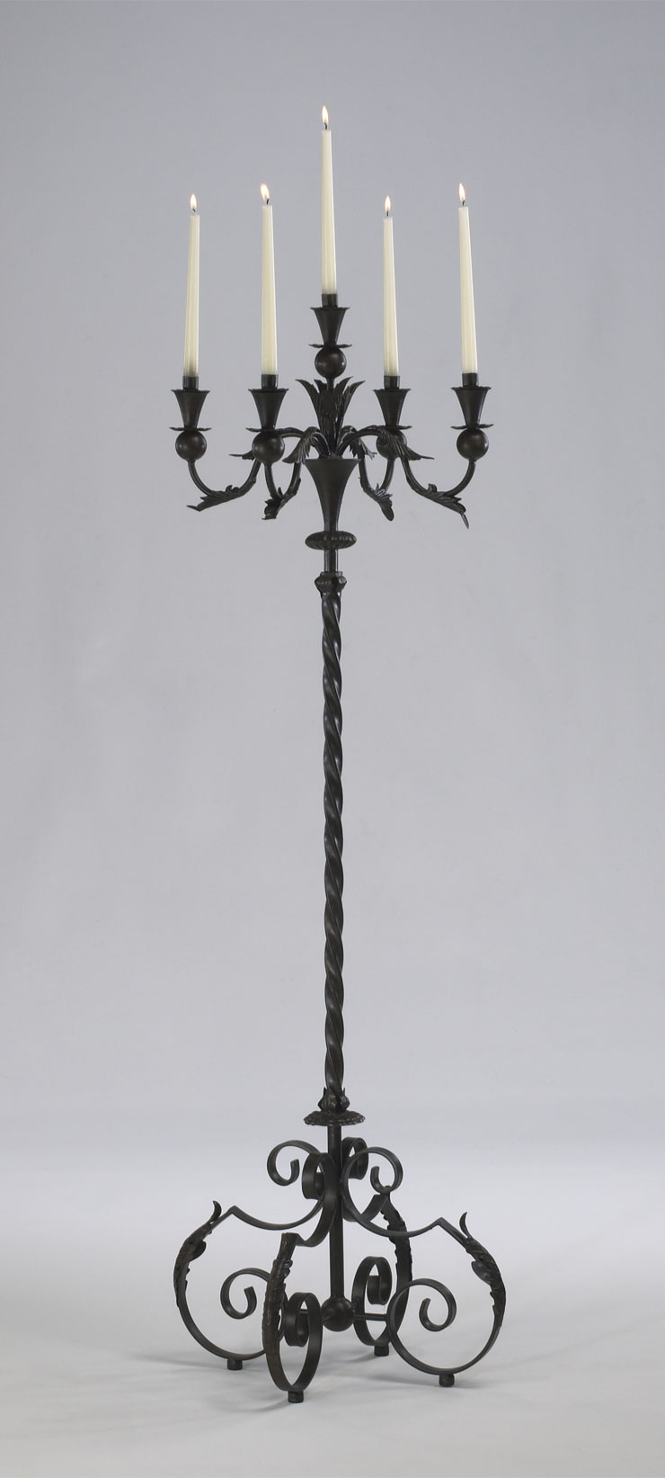 Iron Candle Stand Designs : Large iron floor candelabra by cyan design