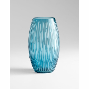 Large Klein Blue Glass Vase by Cyan Design