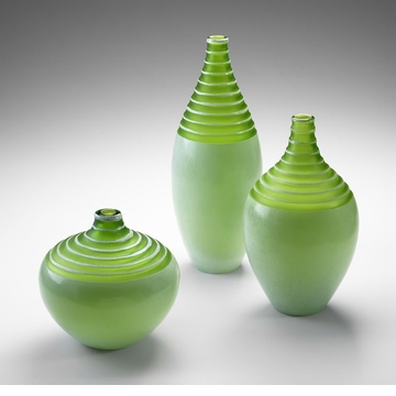 Large Meadow Green Glass Vase by Cyan Design