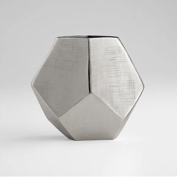 Large Nickel Vulcan Vase by Cyan Design