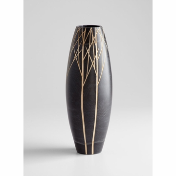 Large Onyx Wood Vase by Cyan Design
