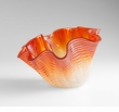 Large Orange Glass Party Bowl by Cyan Design