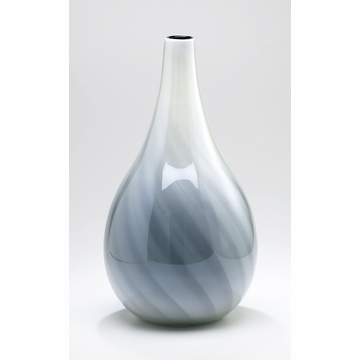 Large Petra White Glass Vase by Cyan Design