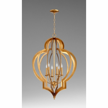 Large Vertigo Gold Leaf Chandelier by Cyan Design