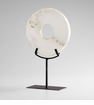 Large White Granite Disk Sculpture by Cyan Design