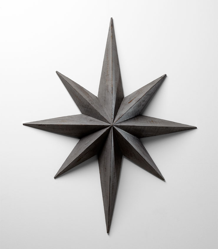large wood star wall decoration by cyan design. Black Bedroom Furniture Sets. Home Design Ideas