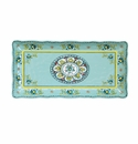"Le Cadeaux 10"" X 5"" Biscuit Tray Madrid Turquoise"