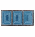 Le Cadeaux 4 Pc Serving Tray Set Antiqua Blue