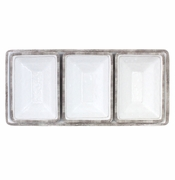 Le Cadeaux 4 Pc Serving Tray Set Rustica White