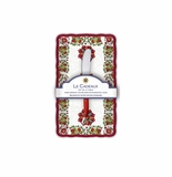 Le Cadeaux Allegra Red Butter Dish Gift Set