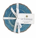 Le Cadeaux Appetizer Plate (Set Of 4) Antiqua Blue