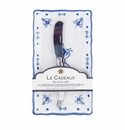 Le Cadeaux Butter Dish/Spreader Gift Set Moroccan Blue