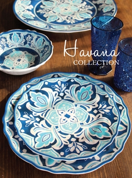 Click to enlarge & Le Cadeaux Havana Melamine Dinnerware Collection