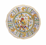 "Le Cadeaux Rooster Yellow 9"" Salad Plate"