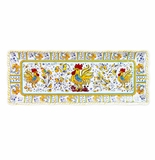 Le Cadeaux Rooster Yellow Baguette Tray