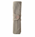 Le Cadeaux Solid Taupe Napkins with Napkin Ring, Set of 4