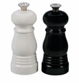 "Le Creuset 5"" X 2"" Petite Salt & Pepper Mill Set Black"