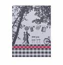 Le Jacquard Dancing Couple Black Kitchen Towel 28x20