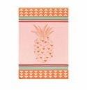 Le Jacquard Pineapple Orange Kitchen Towel 28x20
