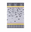 Le Jacquard Triangles Grey Kitchen Towel 28x20