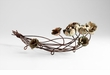 Leigh Bronzed Rose Basket by Cyan Design