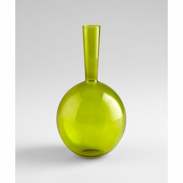 Lime Green Glass Vase by Cyan Design