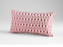 Line Drive Pink Decorative Pillow by Cyan Design