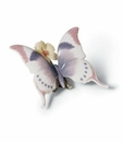Lladro A Moment's Rest Butterfly Porcelain Figurine
