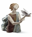 Lladro Allegory To the Peace 60Th Anniversary Porcelain Figurine