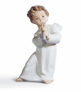 Lladro Angel With Flute Figurine