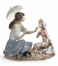 Lladro As Pretty As a Flower Mother & Daughter Figurine