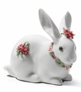 Lladro Attentive Bunny Carnations Porcelain Figurine