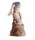 Lladro Boy with Love Letters Porcelain Figurine