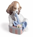 Lladro Can't Wait! Puppy Porcelain Figurine