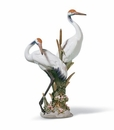 Lladro Courting Cranes Figurine