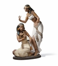 Lladro Dancers From the Nile Porcelain Figurine
