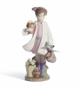 Lladro Delicate Nature Girl Porcelain Figurine
