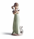 Lladro Don't Forget Me! Girl with Cats Figurine