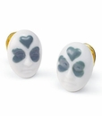 Lladro Earrings Clover Face