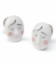 Lladro Earrings Smart Clown