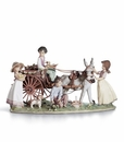 Lladro Enchanted Outing Children & Pets Figurine