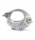 Lladro Fish Centerpiece - Small (White And Silver)